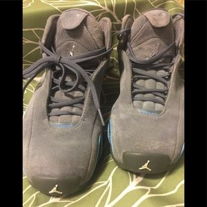 new product 4eca6 eb48b Nike Shoes - Nike Air Jordan XXI graphite grey suede blueSz5.5Y